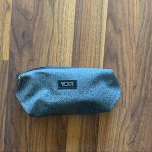 tumi grey cosmetic makeup bag
